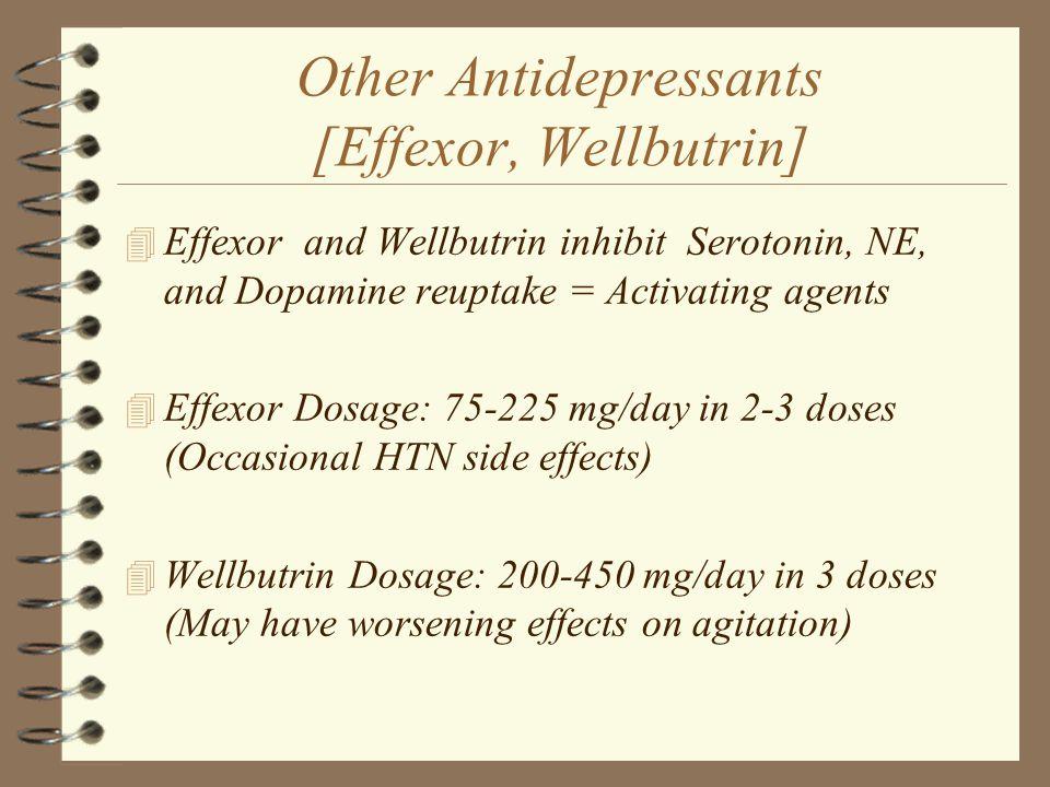 Other Antidepressants [Effexor, Wellbutrin]